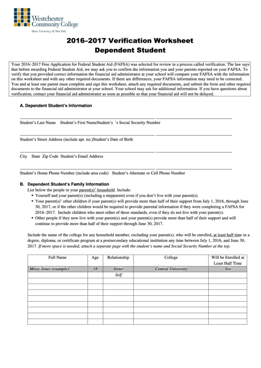 Top 6 Dependent Verification Form Templates Free To