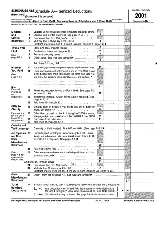 Schedules A Amp B Form