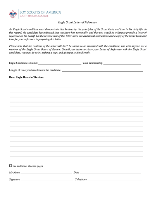 eagle scout letter of recommendation form pdf letterjdi org