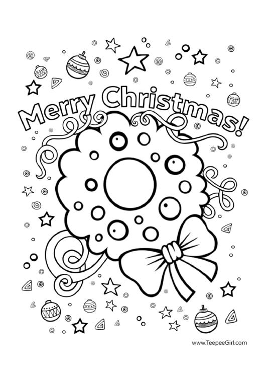 Merry Christmas & New Year Coloring Sheets printable pdf