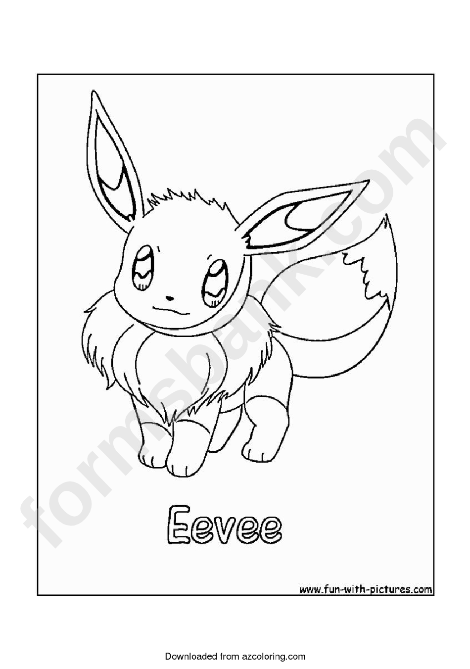 Pokemon Coloring Pages Eevee : pokemon, coloring, pages, eevee, Eevee, Coloring, Unique, Collection, Gacha, Pages.
