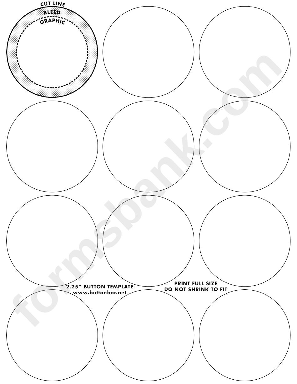 2.25 Inch Small Button Templates printable pdf download