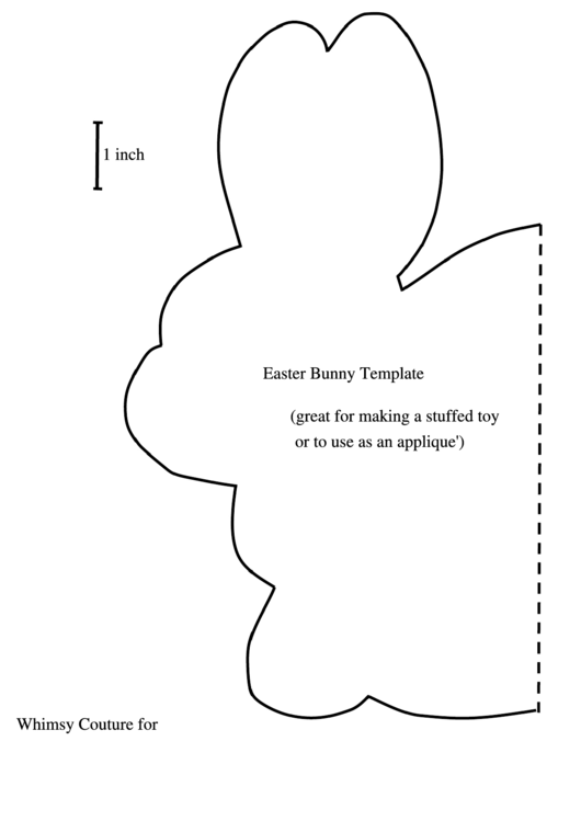 Foldable Easter Bunny Template printable pdf download