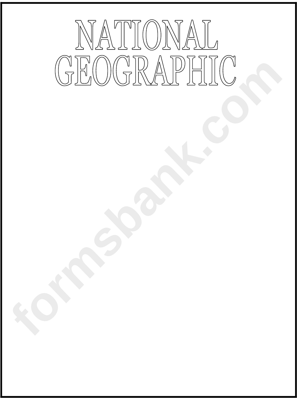Sample National Geographic Cover Template printable pdf download