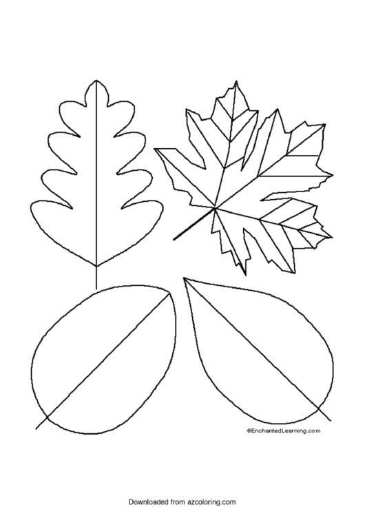 Simple Leaf Templates printable pdf download