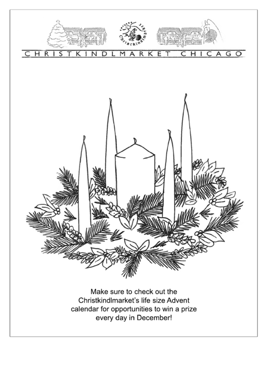 Advent Wreath Coloring Page printable pdf download