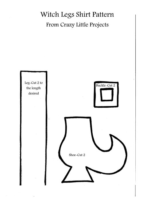 Witch Legs Shirt Pattern printable pdf download