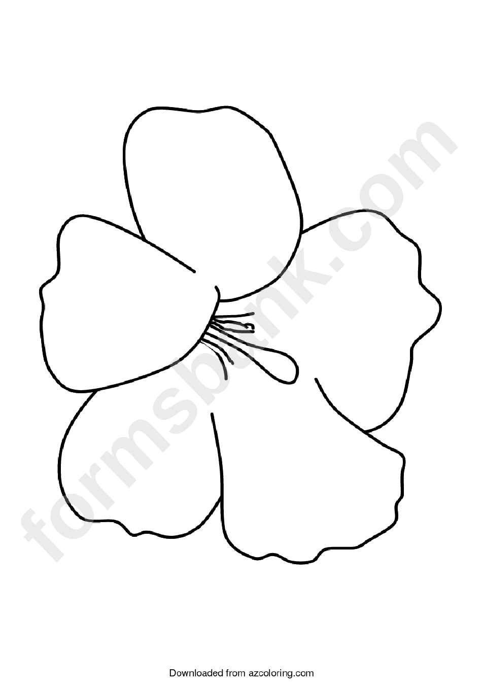 Hawaiian Flower Template printable pdf download