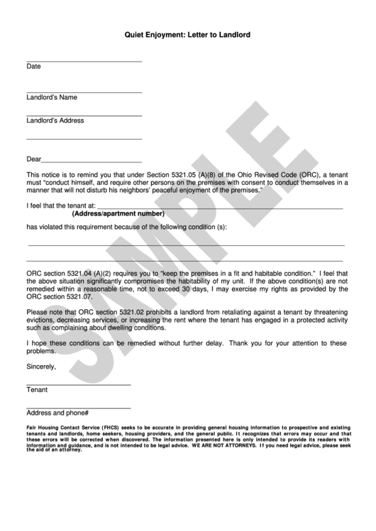 Top Samples Complaint Letter To Landlord free to download