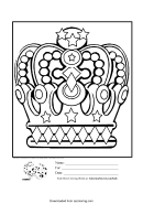 Five Crowns Score Sheet printable pdf download
