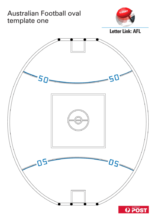 Australian Football Oval Template Printable Pdf Download