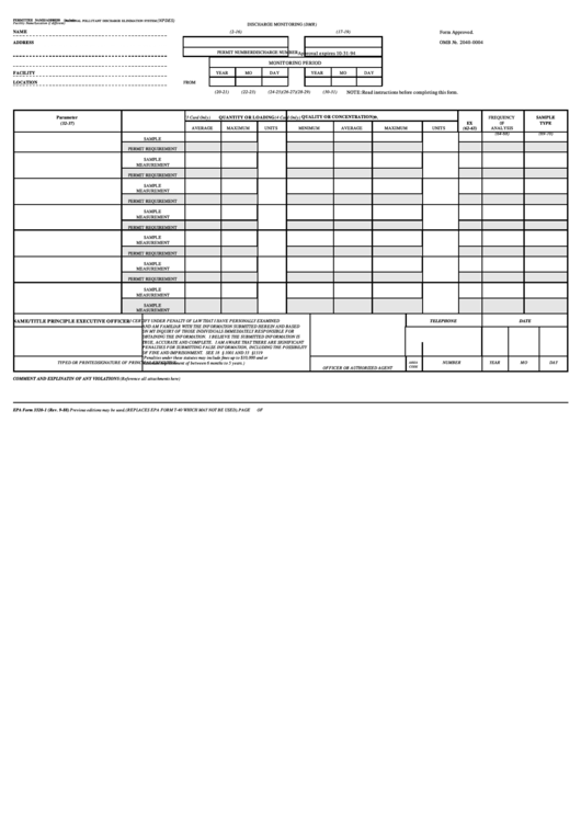 Top Epa Form 3320-1 Templates free to download in PDF format