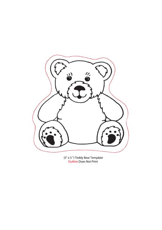 Teddy Bear Template Outline printable pdf download