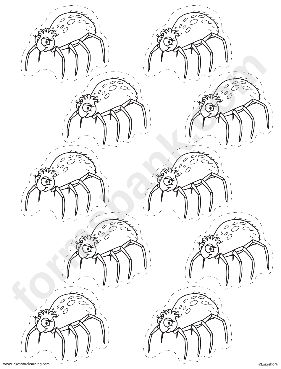 Cut-Out Cute Spider Template printable pdf download
