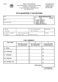 Mvd-11263 4/04 - Ifta Quarterly Tax Return Form - State Of ...