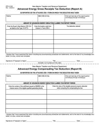 Form Rpd-41349 - Advanced Energy Gross Receipts Tax ...