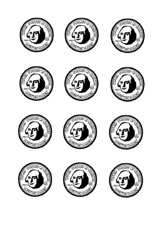 Black And White Us Quarter Templates printable pdf download