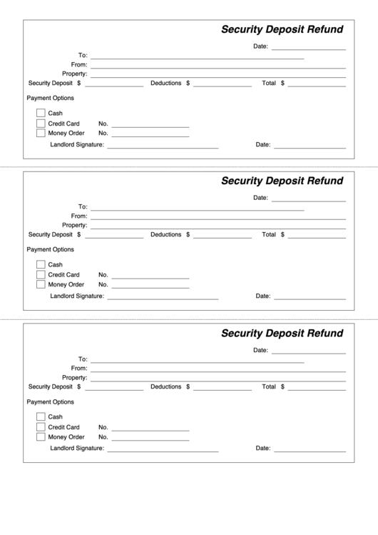 credit card deposit form