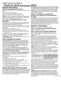 Instructions For Form Il-2210 Draft - 2010 printable pdf ...