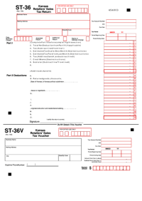 Form St-36 - Kansas Retailers' Sales Tax Return printable ...