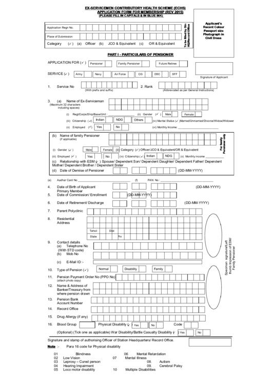 Ex-Servicemen Contributory Health Scheme (Echs