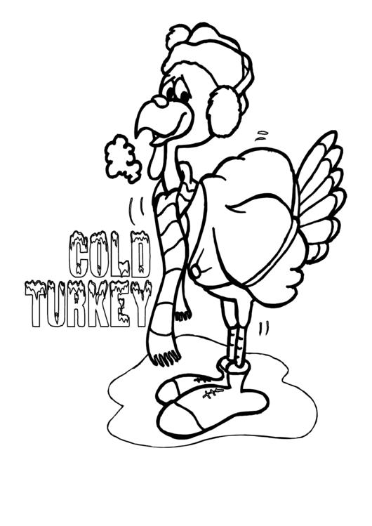Turkey Coloring Sheet printable pdf download