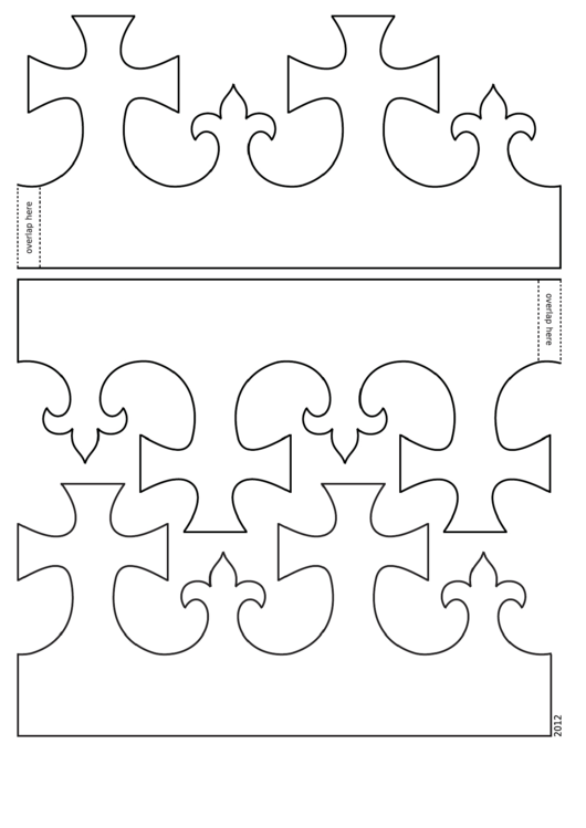 Foldable King Crown Template printable pdf download