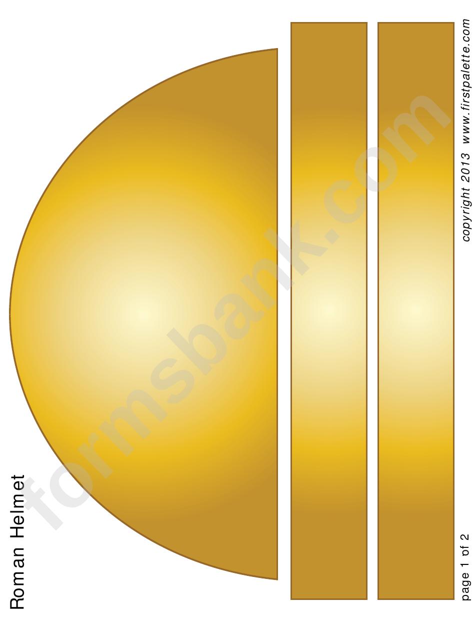 Roman Helmet Template printable pdf download