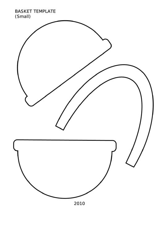 Basket Template (Small) printable pdf download