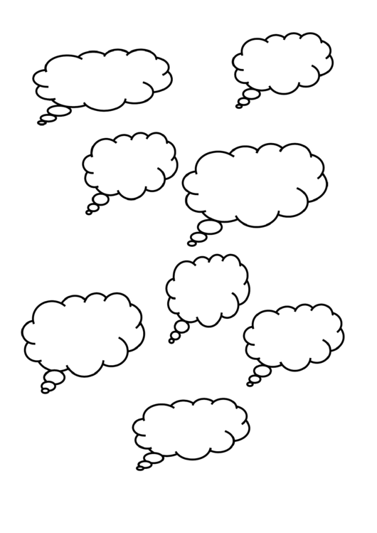 Thought Cloud Templates printable pdf download