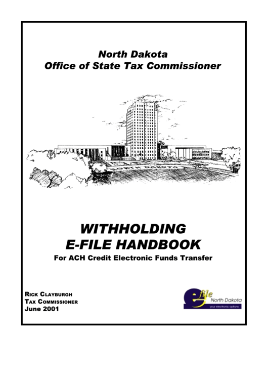 Instructions For North Dakota Withholding E-File Handbook