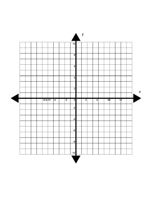 Four Quadrant Cartesian Grid Template printable pdf download