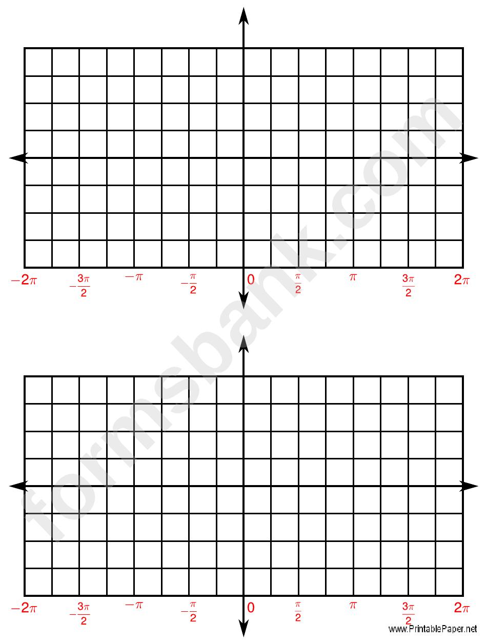 4 Quadrant Graph Paper printable pdf download