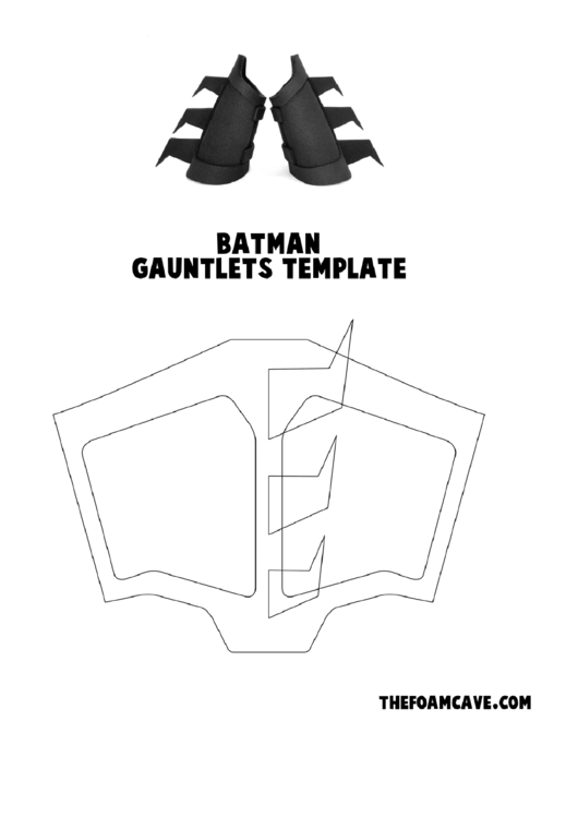Batman Costume Template & Batman Cosplay BodySuit Template
