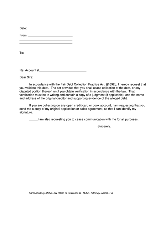 3 Debt Validation Letter free to download in PDF