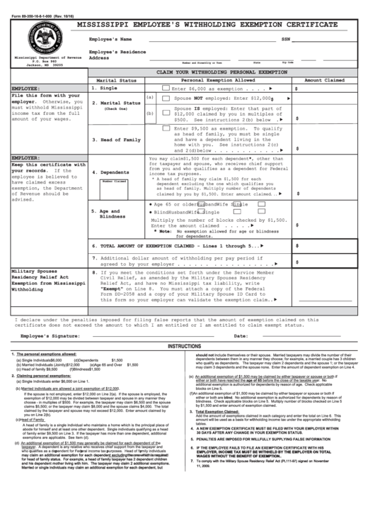 Non Resident Mississippi Tax Forms