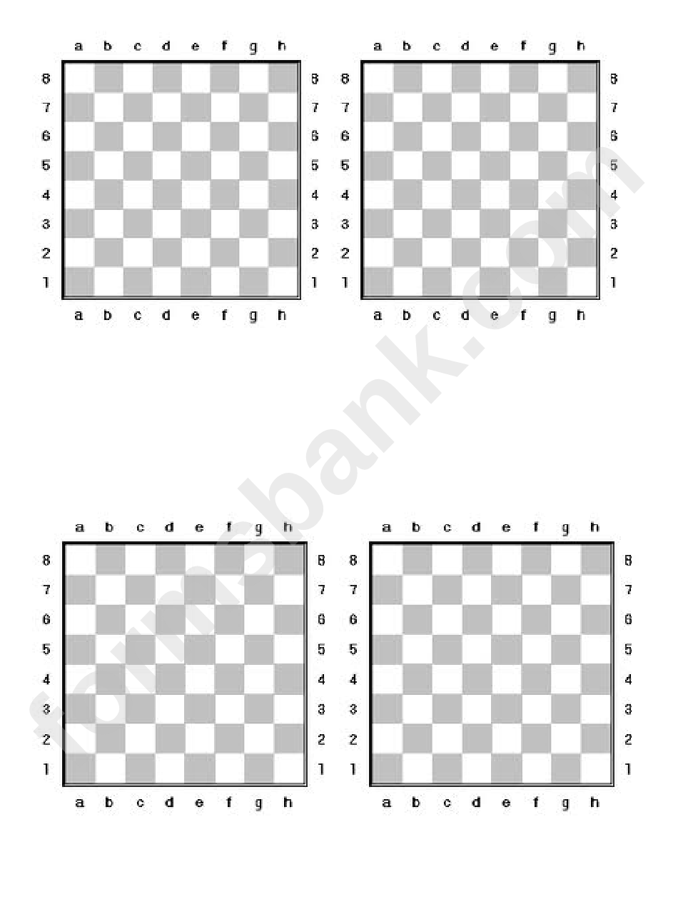 Chess Board Template printable pdf download