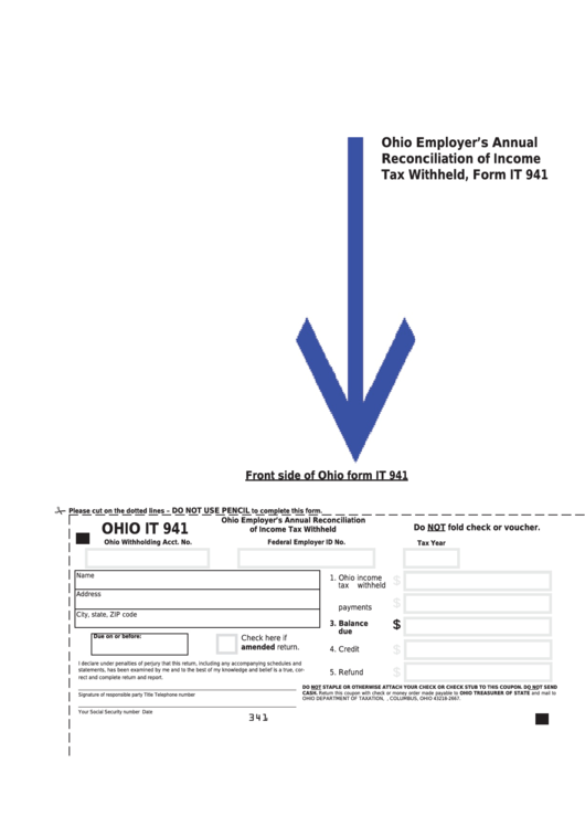 Fillable Ohio Form It 941