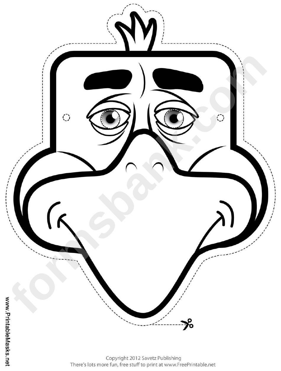 Eagle Mask Outline Template printable pdf download