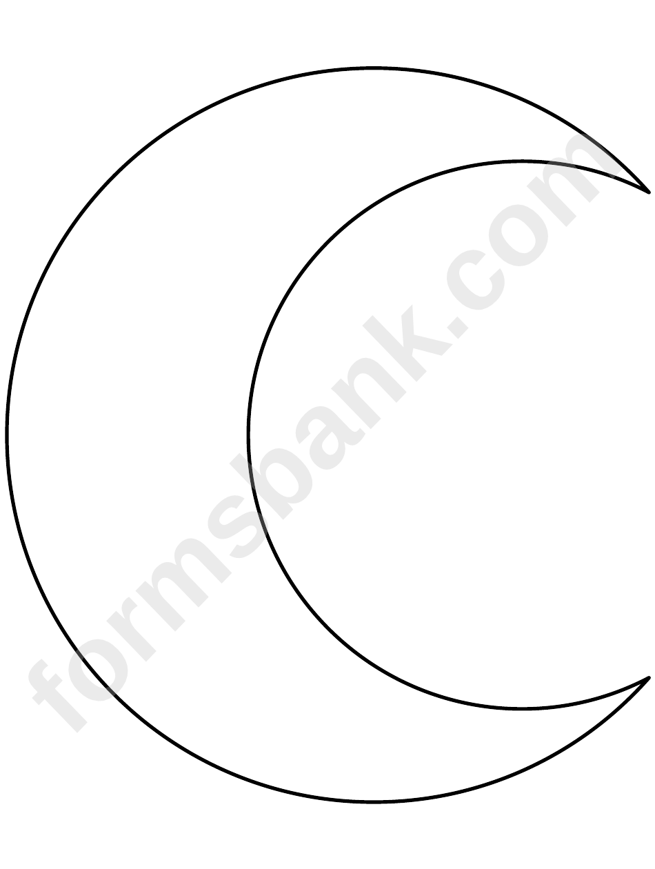 Crescent Moon Pattern Template printable pdf download