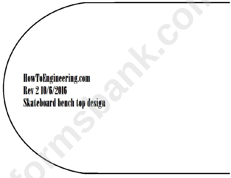 Skateboard Bench Template printable pdf download