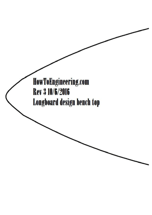 Longboard Template printable pdf download