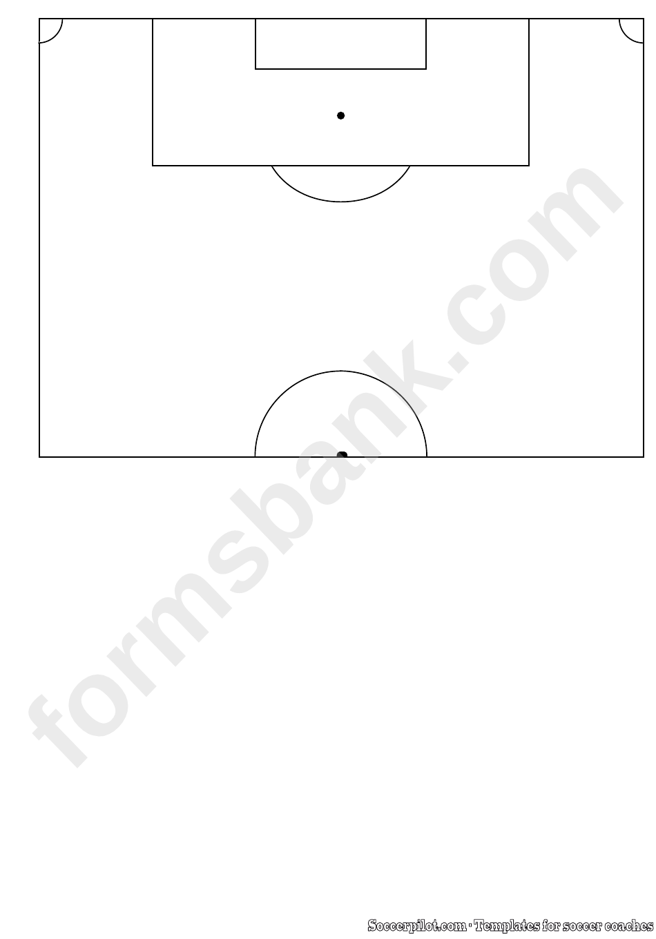 Soccer Half-Pitch Field Template printable pdf download