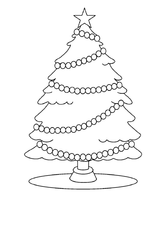 Christmas Tree And Decorations Coloring Sheets printable