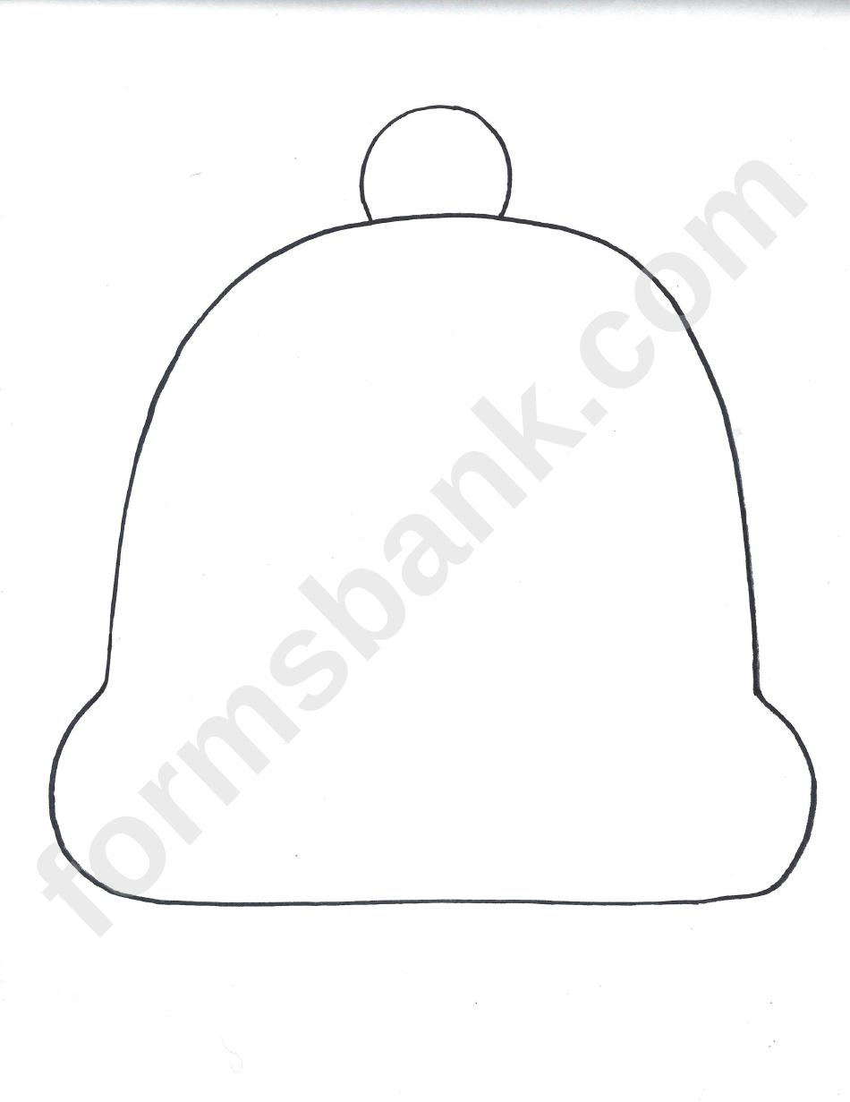 Blank Winter Hat Template printable pdf download
