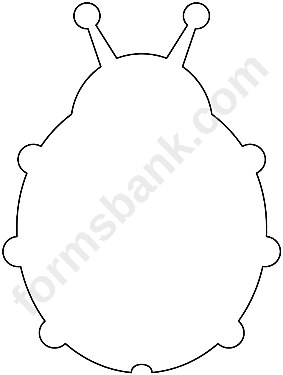 Blank Ladybug Template printable pdf download