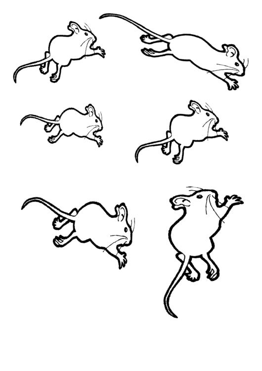 Mouse Templates printable pdf download