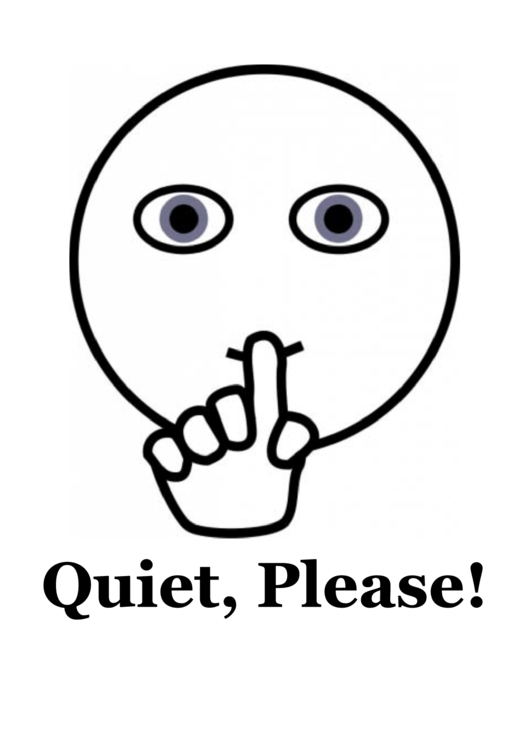 Quiet Please Sign printable pdf download