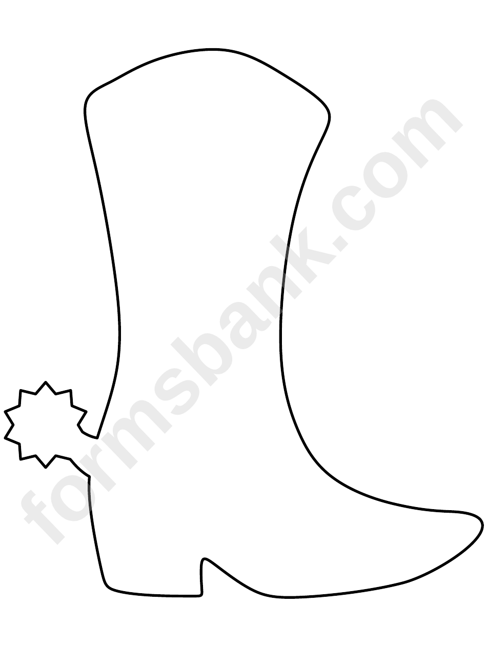Cowboy Boot Template printable pdf download