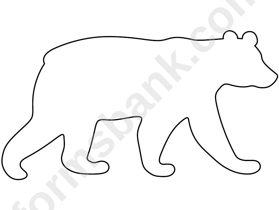 Blank Polar Bear Template printable pdf download
